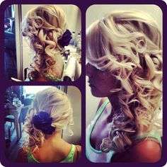Formal Updo, Curls. Joey and Amy's wedding