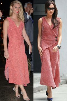 15 times celebrities wore the same outfit. Who do YOU think wore it better? Claire Danes vs Victoria Beckham