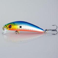 Minnow Fishing Lure 7CM 8.9G 6# Hooks Fish Wobbler Tackle Crankbait Artificial Hard Bait Swimbait