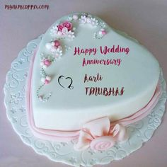 Happy Wedding Anniversary Wishes Names Cake Image. Online Write Couple Wedding Wishes Cakes Pictures. Heart Anniversary Cake With Lover Names. Beautiful Heart Look Wedding Cakes. Anniversary Cake With Name, Happy Wedding Anniversary Wishes, Happy Anniversary Cakes, Anniversary Surprise, Romantic Anniversary, Anniversary Quotes, Anniversary Ideas, Wedding Cake With Name, Big Wedding Cakes