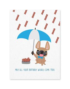 Raining Bacon - Birthday Card $5