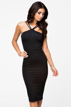 Společenské koktejlové šaty s dvojitými ramínky černé 4026148fb78