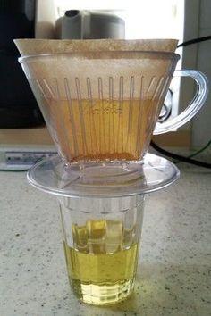 コーヒーフィルターで油こし
