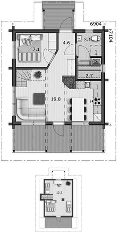 Проект дачного каркасного дома