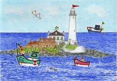 ST MARY'S LIGHTHOUSE, WHITLEY BAY  Prints, mugs, cards and magnets available