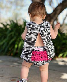 RuffleButts.com - Zebra Print Woven RuffleButt / Baby Bloomer