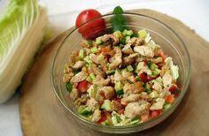 csirkemell zöldségekkel Pasta Salad, Potato Salad, Food And Drink, Menu, Potatoes, Rice, Chicken, Ethnic Recipes, Kitchen