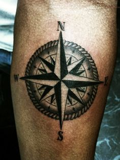 Simple Compass Tattoo
