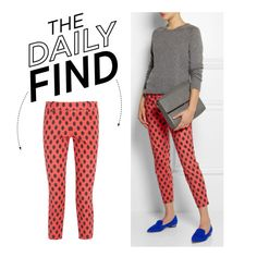 """""""The Daily Find: J.Crew Printed Pants"""" by polyvore-editorial on Polyvore"""