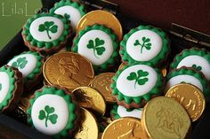 St. Patrick's Day *Food* - Leprechaun Loot Cookies (tutorial)