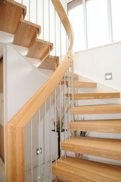 Open timber stair Warsash,Southampton-4