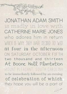 Custom Wedding Invitation Set - Printed