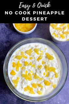 This 5 Minute Pineapple Dessert recipe is one of the easiest recipe you'll find anywhere.This is a no cook dessert recipe made with canned pineapple, cool whip and condensed milk.So good and delicious!