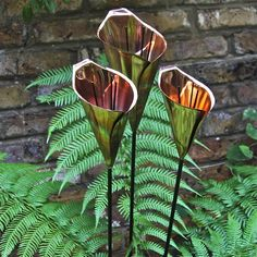 Copper Cala Lily Garden Sculpture by London Garden Trading, the perfect gift for Explore more unique gifts in our curated marketplace. Metal Projects, Metal Crafts, Garden Projects, Yard Sculptures, Garden Sculpture, Metal Garden Art, Metal Art, Lily Garden, London Garden