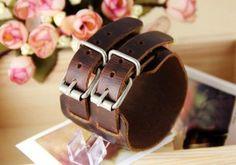 Vintage Double Wide Leather Bracelet