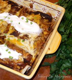 Beef and Black Bean Enchiladas from Cooking Light via Taking On Magazines