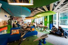 camenzind evolution has created fourteen individually-themed floors of creative work environments for 'google docks', the google office campus in dublin