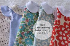 Doll Couture jouer avec le tissu