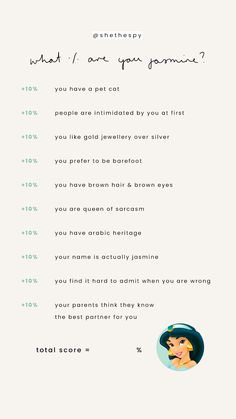 What Percentage Are You Jasmine Disney Questions, Fun Questions To Ask, Anna Disney, Disney Love, Instagram Story Template, Instagram Story Ideas, Belle Aesthetic, Disney Princess Silhouette, All Disney Princesses