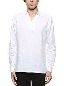 b8dcf4bb637 BYLUNTA Mens Slim Fit Linen Cotton Long Sleeve Popover Casual Daily Office  Henley Neck Shirt Regular Fit (Small