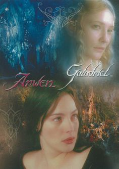 Arwen and Galadriel; granddaughter and grandmother.