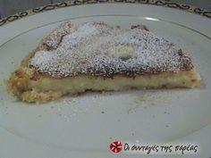 Νοστιμότατη γαλατόπιτα Greek Desserts, Greek Recipes, Greek Cake, Recipe Images, Food To Make, Biscuits, French Toast, Oatmeal, Sweet Treats