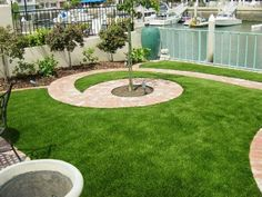 Check out this spiral design courtesy of EasyTurf! l go green l fake grass l artificial turf l