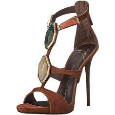 Giuseppe Zanotti Women's Stone Ornaments Dress Sandal ($524) ❤ liked on Polyvore