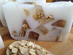 Oatmeal Milk and Honey Handmade Glycerin Soap by serenitynowbathbody on Etsy