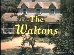 """THE WALTONS; our family watched the Walton every Thursday night for years, we grow up along side the Walton's and it's actors. """"Goodnight, John Boy""""..."""