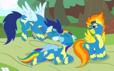 Image from http://www.ponywallpapers.com/wallpapers/1/the-wonderbolts-2776-2880x1800.jpg.