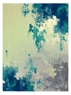 Green Waterfall by AX_Collection (Poly-Cotton Canvas) by Art Excuse at Gilt