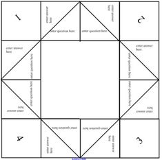 Create a Own Fortune Teller / Cootie Catcher Elementary Counseling, School Counseling, Projects For Kids, Crafts For Kids, Wedding Table Games, Wedding Questions, Teaching Second Grade, School Information, Activities For Boys