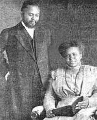 William J. Seymour and his wife, Jenny, who continued the Azuza Street ministry after her husband's death.