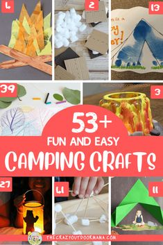 Fun Kids Camping Crafts Perfect for Preschoolers This Summer! 53 Camping Crafts for preschoolers to even older kids to do this summer that are fun and easy! Have a great family camp trip or camp themed party with these camping crafts! Perfect for schoo Camping Theme Crafts, Camping Activities For Kids, Camping With Toddlers, Preschool Camping Theme, Camping Decorations, Summer Preschool Themes, Kids Camp, Camps For Kids, Indoor Activities