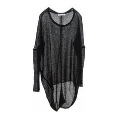 Paychi Guh - Cashmere Sheer Pullover Black ($415) ❤ liked on Polyvore featuring tops, sweaters, oversized pullover, lightweight pullover, lightweight sweaters, scoop neck sweater and oversized pullover sweater