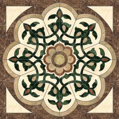 Marble Parquet Feature Marble Medallion Waterjet Patterns from China, the Details Include Pictures,Sizes,Color,Material and Origin. Stone Mosaic, Mosaic Art, Stone Tiles, Marble Art, Marble Floor, Marble Mosaic, Sandstone Wall, Limestone Wall, Floor Patterns