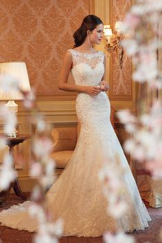 Boho Chic Hollywood Glam Modest Nautical/Preppy Romantic Vintage Ivory $$ - $701 to $1500 A-line Bateau Beading Floor Illusion Lace Natural Off-the-shoulder Sleeveless Sophia Tolli Sweetheart Tulle Wedding Dresses Photos & Pictures - WeddingWire.com