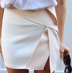 Wrapped mini skirt