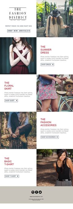 10 best email templates for clothing stores images on pinterest