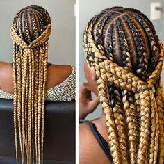 Box Braids Hairstyles, Braids Hairstyles Pictures, Baddie Hairstyles, Hair Pictures, Black Girl Braids, Braids For Black Hair, Natural Hair Braids, Natural Hair Styles, Tribal Hair