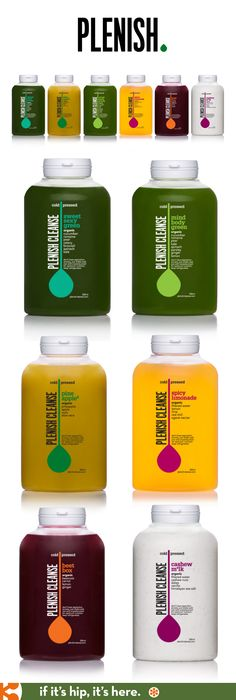 Plenish Cleanse bottle designs.