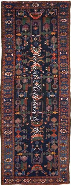 "Malayer Antique Oriental Rug Size: 3' 4"" x 9' 0"""