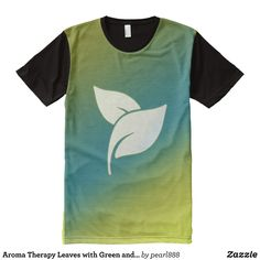 Aroma Therapy Leaves with Green and Blue Gradient All-Over-Print T-Shirt - Visually Stunning Graphic T-Shirts By Talented Fashion Designers - #shirts #tshirts #print #mensfashion #apparel #shopping #bargain #sale #outfit #stylish #cool #graphicdesign #trendy #fashion #design #fashiondesign #designer #fashiondesigner #style