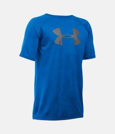 Boy's UA Tech™ Big Logo T-Shirt, ULTRA BLUE, zoomed image