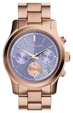 MICHAEL Michael Kors Michael Kors 'Runway' Chronograph Bracelet Watch, 39mm available at #Nordstrom