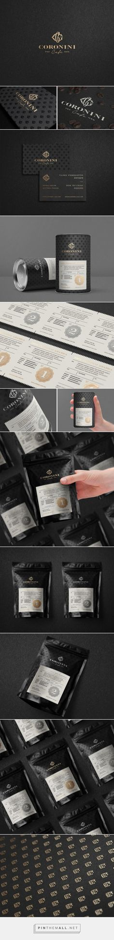 Coronini Cafe Coffee packaging designed by Milovanović (Slovenia) Coffee Shop Logo, Coffee Branding, Coffee Packaging, Coffee Labels, Box Design, Flyer Design, Branding Design, Booklet Design, Identity Branding