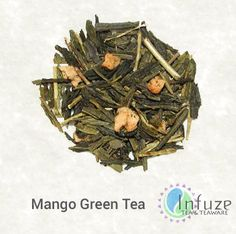 Indulge yourself in a taste of the Caribbean with the mango green tea. Each batch of green tea leaves is infused with the mouthwatering flavor of fresh mango and paired with a slightly floral scent.