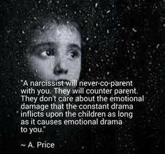 Sounds exactly like my husbands ex-wife. It's been 4 years, time to grow-up; and you call Trenton a narcissist, really?