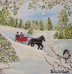 Winter Ride by Linda W Clark